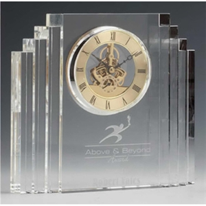 Optical crystal mantel clock