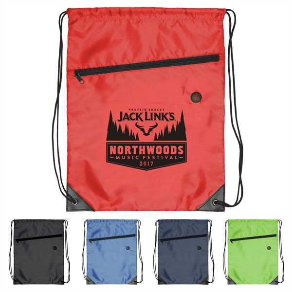 Polyester drawstring backpack with