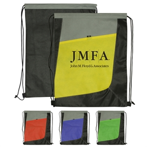 Multi Colored non-woven drawstring