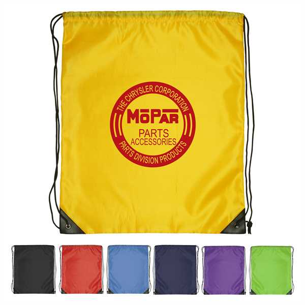 Large Polyester Drawstring Backpack,