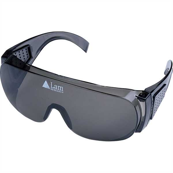 Safety glasses made with