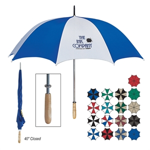 Golf umbrella with metal