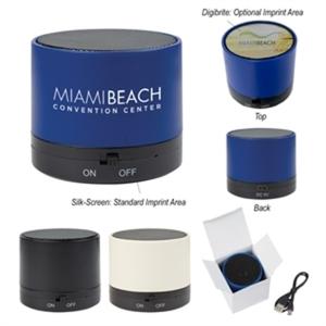 Round wireless speaker with