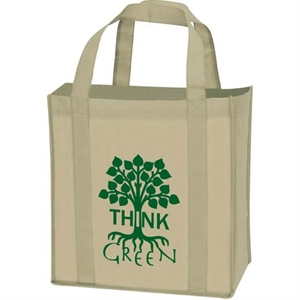 Non-woven grocery tote bag.