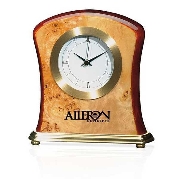 Burlwood Clock. Our unique