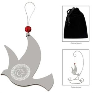 Silver dove ornament.