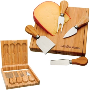 Bamboo cheese set with