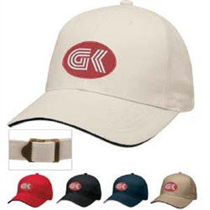 Six-panel cap with contrasting