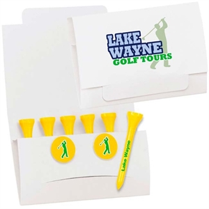 Golf tee packet includes