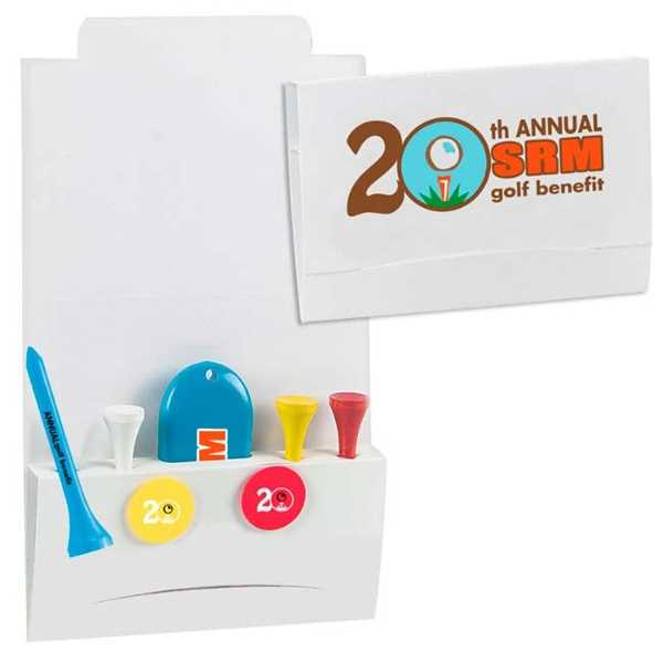 Golf tee packet with