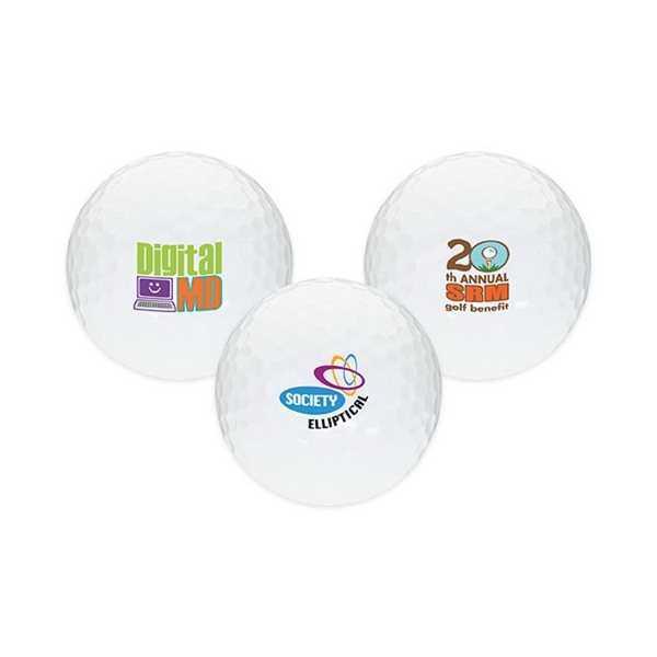 White golf ball made