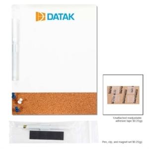 Dry erase cork combination