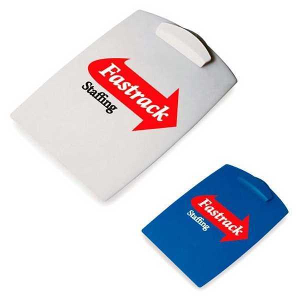 Plastic clipboard with customization.