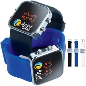 Digital watch with flexible
