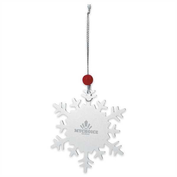 Snowflake Ornament With Silver