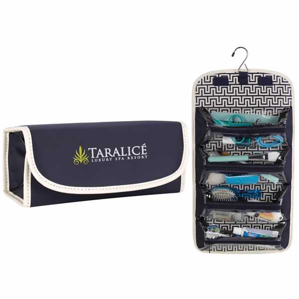 Fashion roll-up cosmetic case.