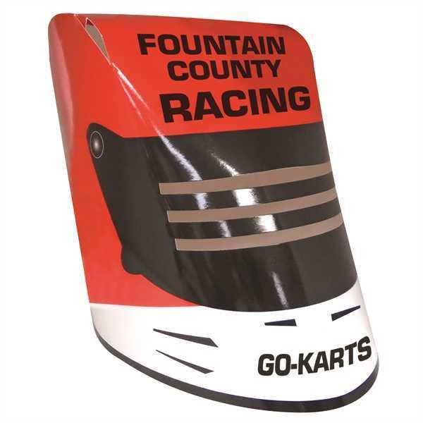 Racing Helmet, made from