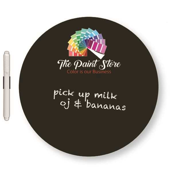 Round chalkboard magnet with