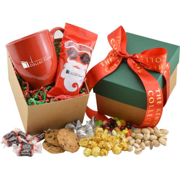 Gift box filled with