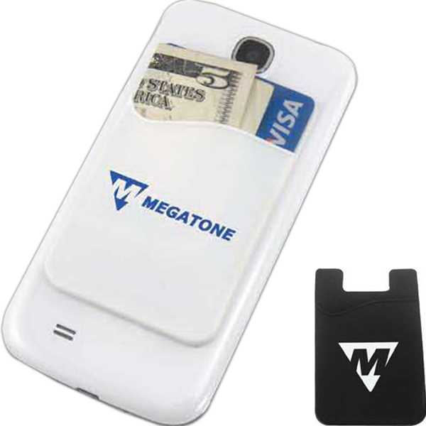 Silicone smartphone wallet with