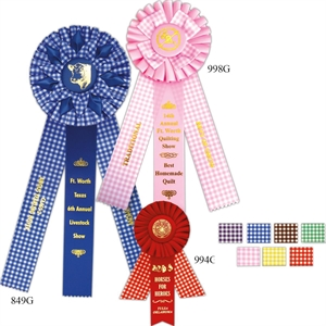 Gingham Rosettes, Rosettes come