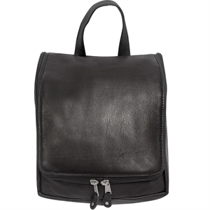 Black leather personal items