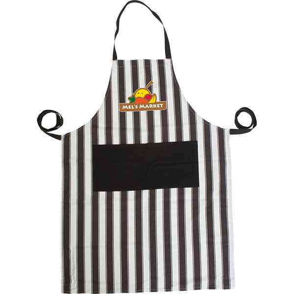 Bib-style apron made of