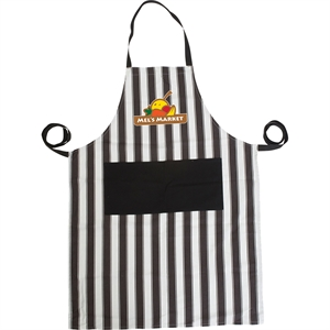 Bib-style apron made of