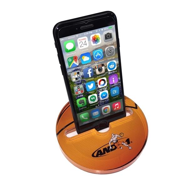 Circular, acrylic phone stand