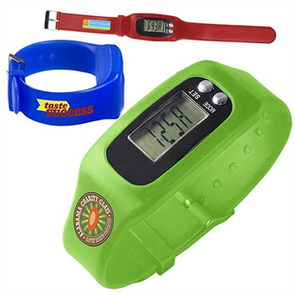Adjustable digital watch pedometer.