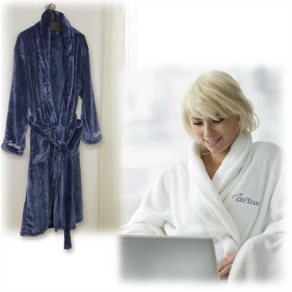 Ultra-plush robe with full-length