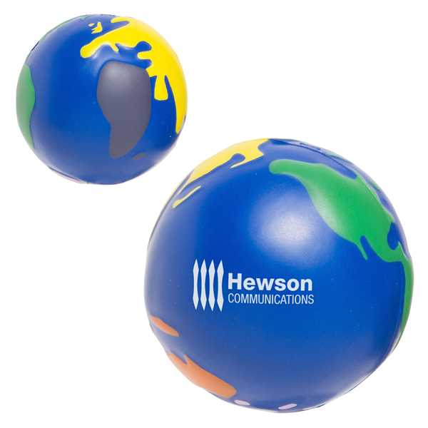 Multicolor earthball stress reliever