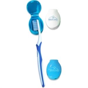Toothbrush travel holder. Adheres