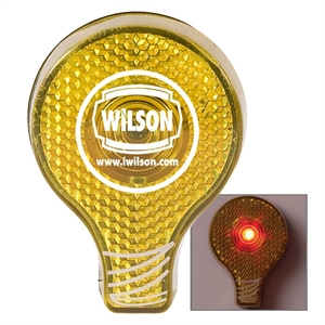 Flashing light bulb shaped