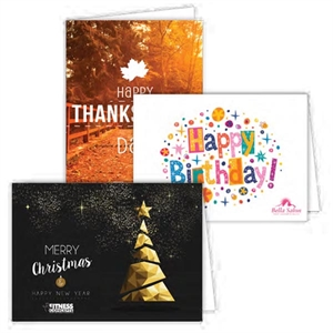promotional gift our custom 5x7 greeting cards 4 color edge to edge