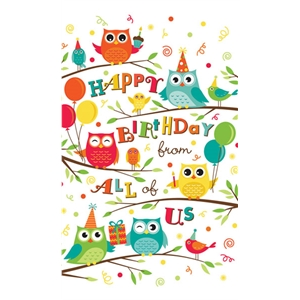 Birthday Owls Card.