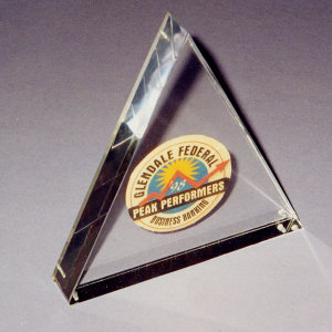 Triangle lucite acrylic display