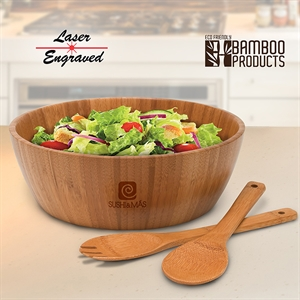 Bamboo salad bowl for