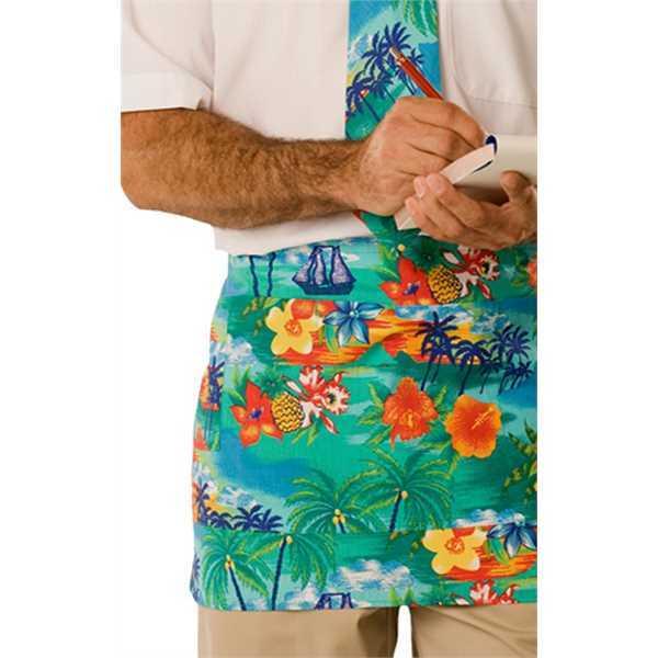 Printed waist apron made