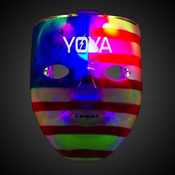 Double patriotic face mask