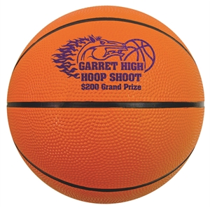 Mini rubber basketball, 5