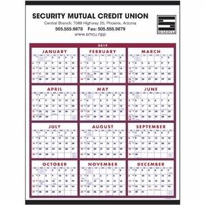 Span-A-Year 2019 Calendar. Choose