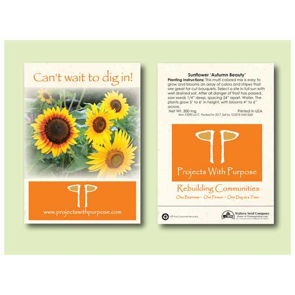 Imprinted Seed Packets