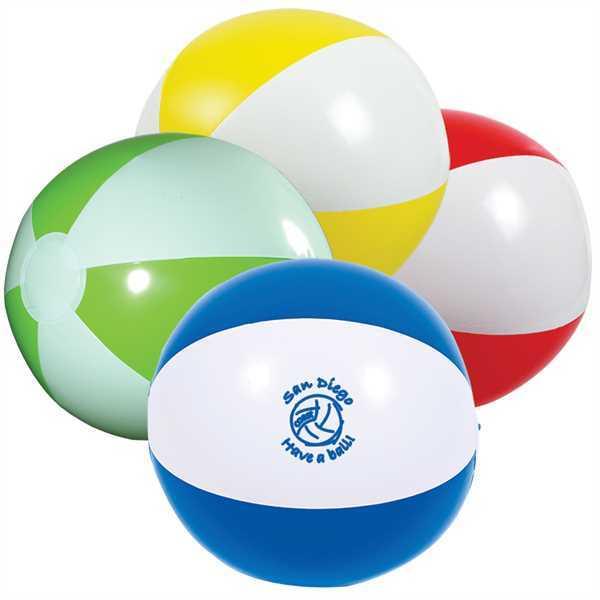 Beach ball with white