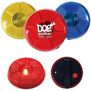 Round flashing safety button