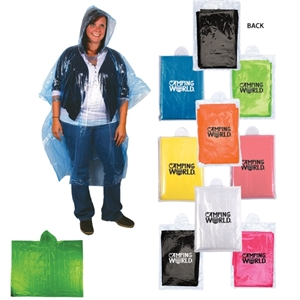 Disposable rain poncho with