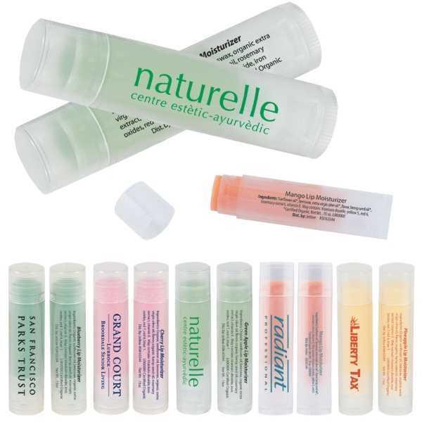 Fruit-flavored lip moisturizer in