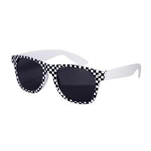 Sunglasses with racing checkered