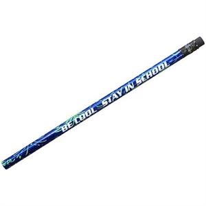 Blue Foil Sparkler Pencil