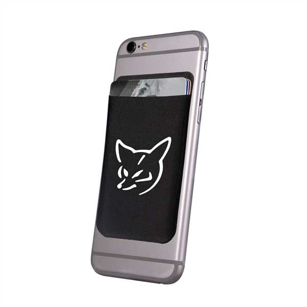 Black phone wallet with
